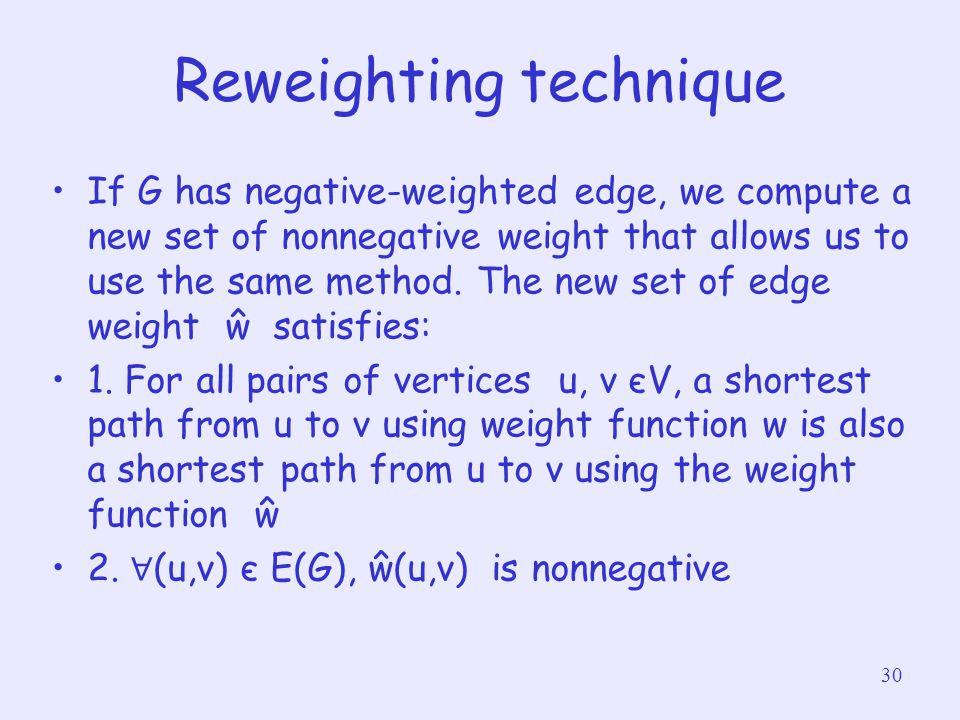 Reweighting technique