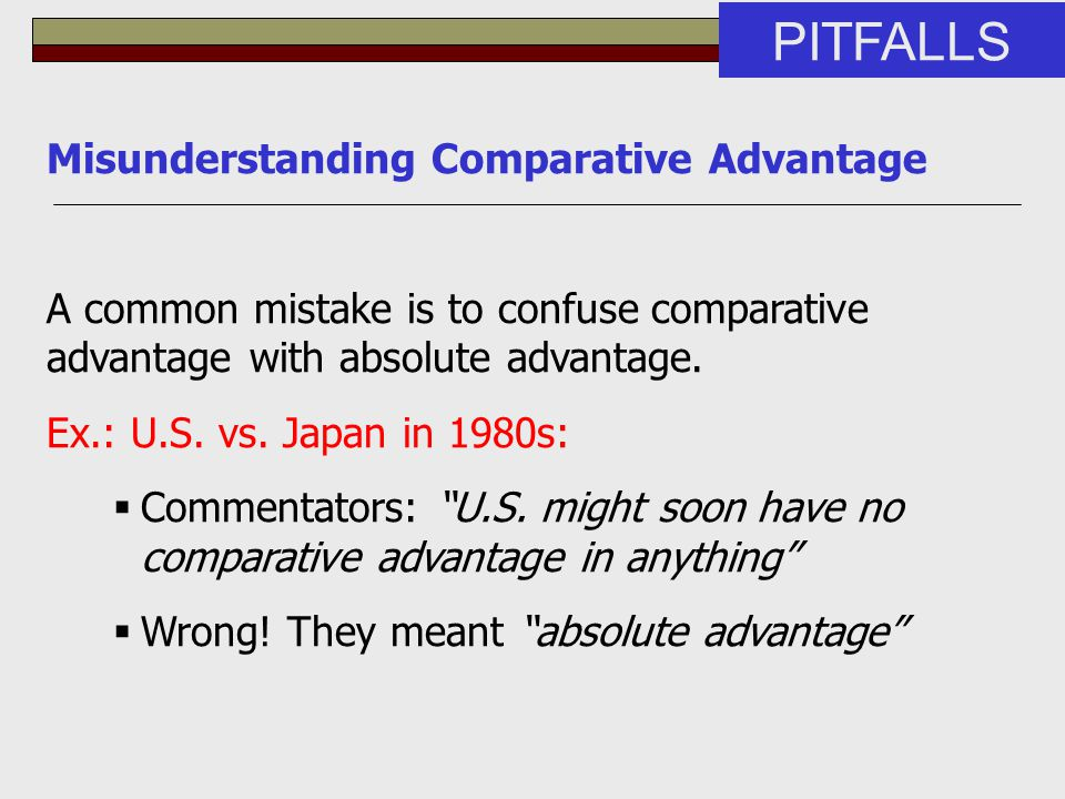 PITFALLS Misunderstanding Comparative Advantage