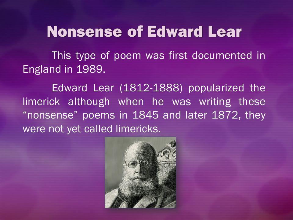 Nonsense of Edward Lear