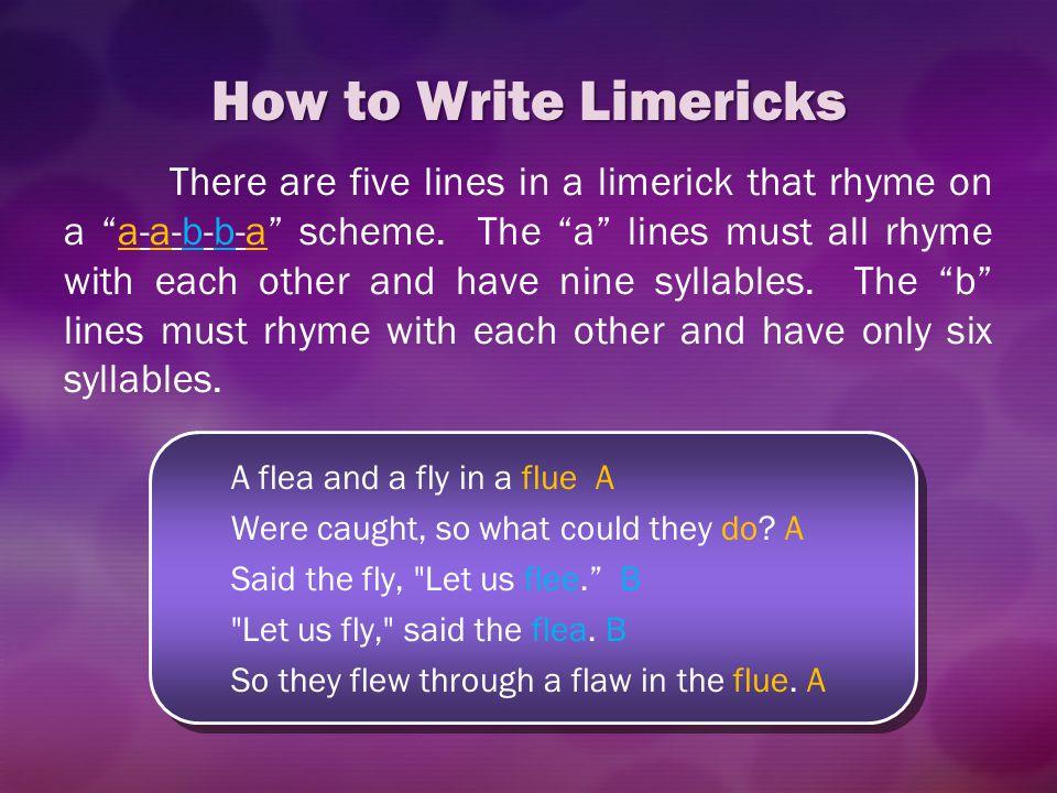 How to Write Limericks