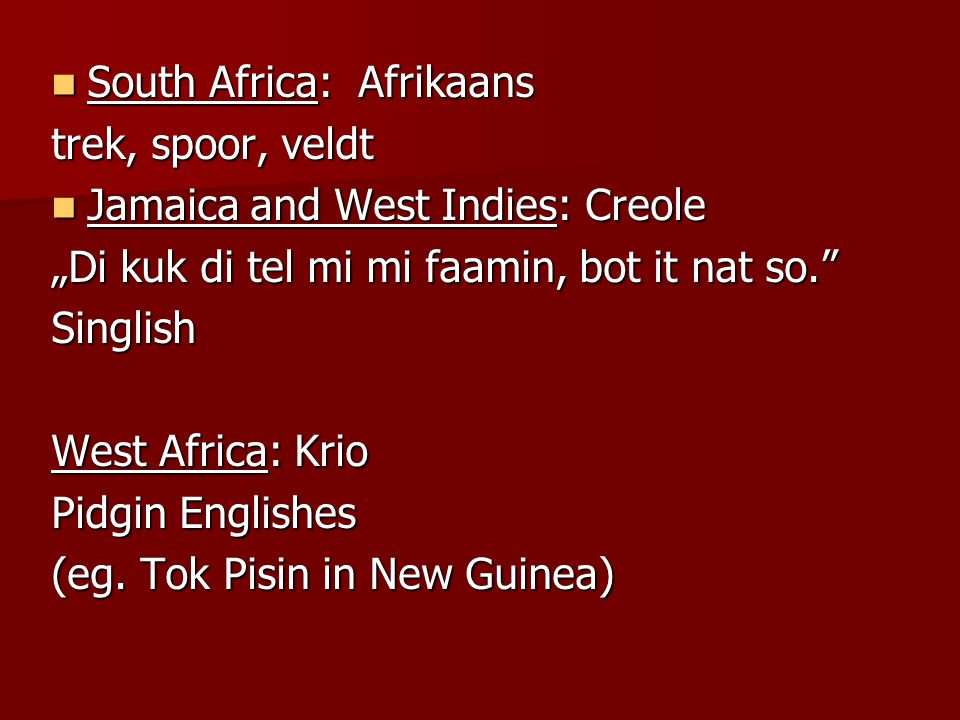 South Africa: Afrikaans