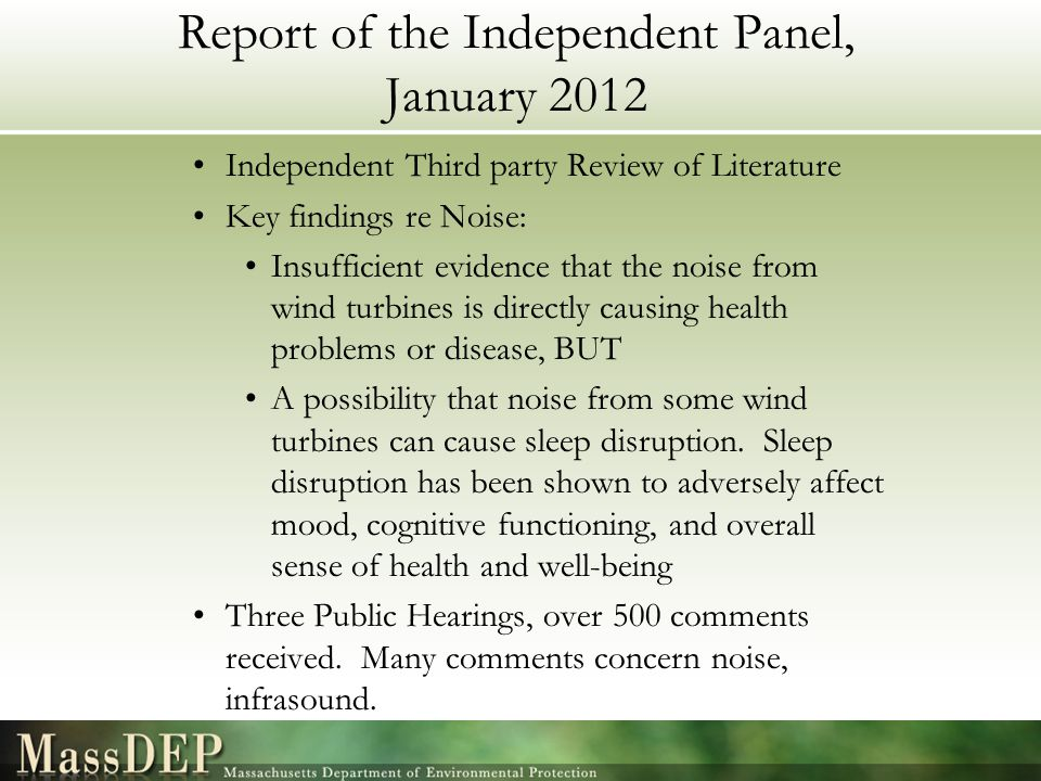 Report of the Independent Panel, January 2012