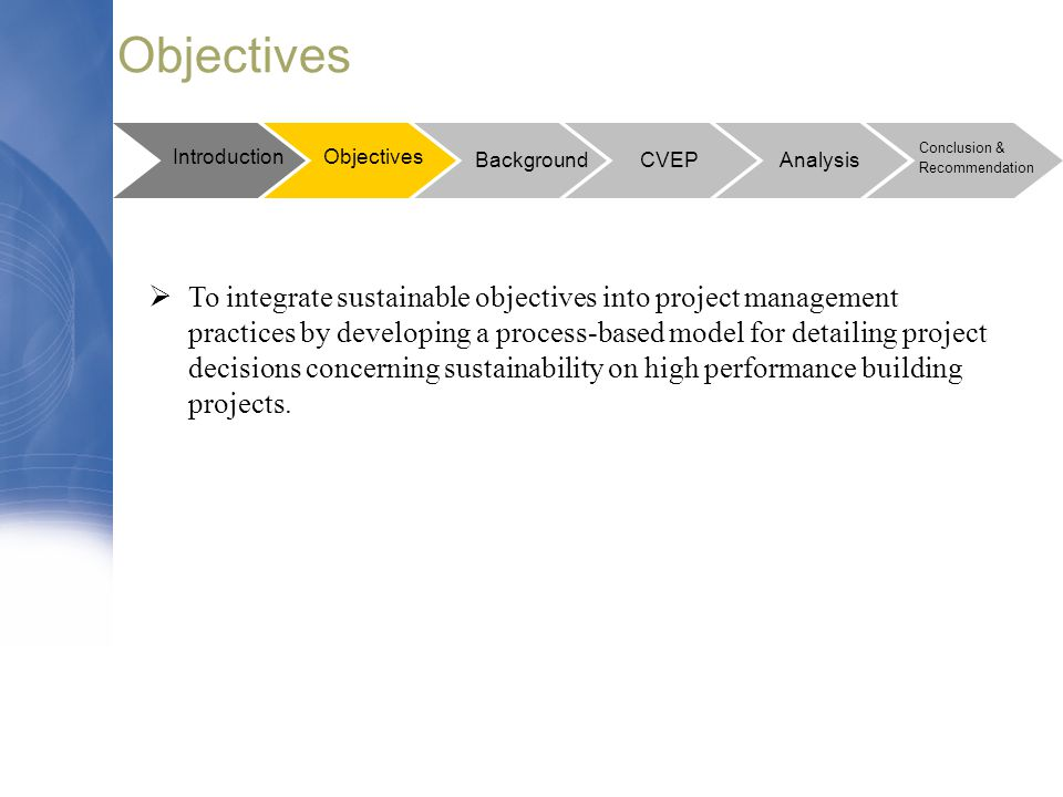 Objectives Introduction. Objectives. Conclusion & Recommendation. Background. CVEP. Analysis.