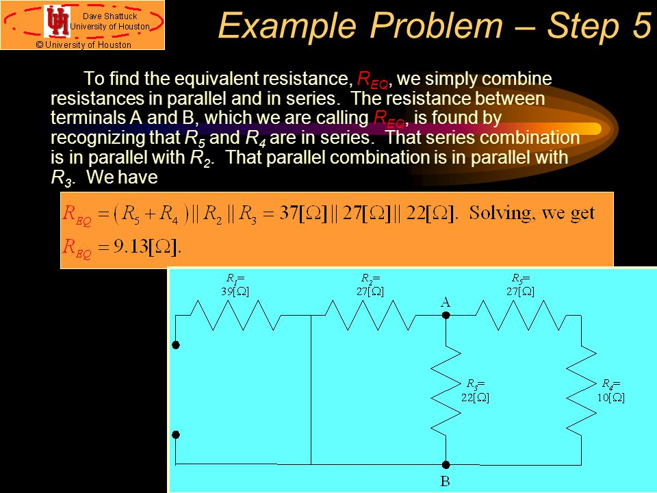 Example Problem – Step 5