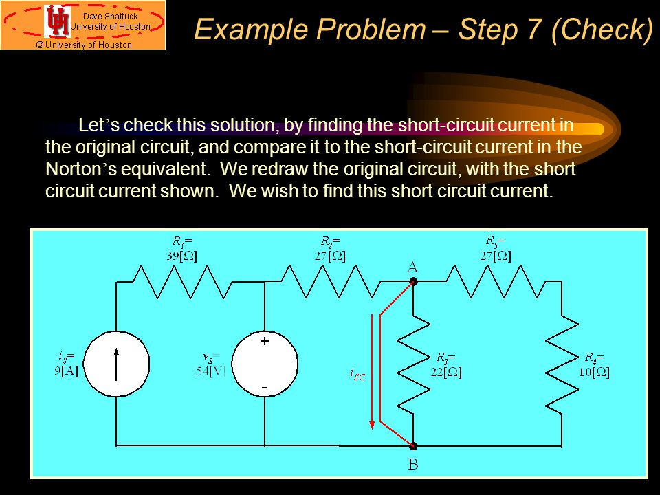 Example Problem – Step 7 (Check)