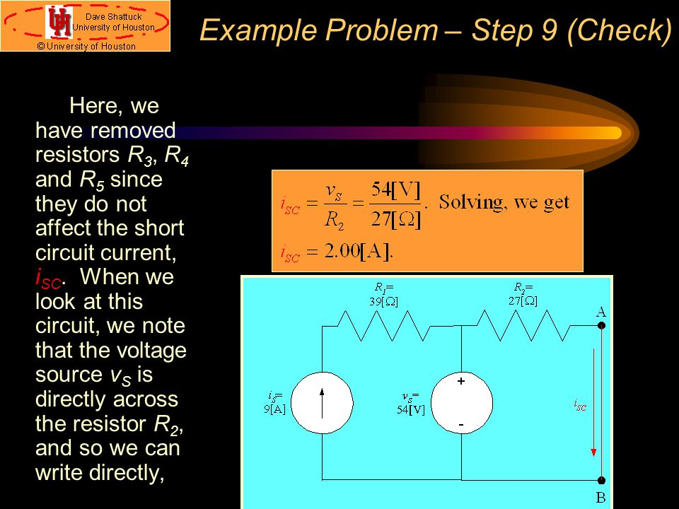 Example Problem – Step 9 (Check)