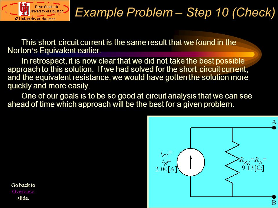 Example Problem – Step 10 (Check)