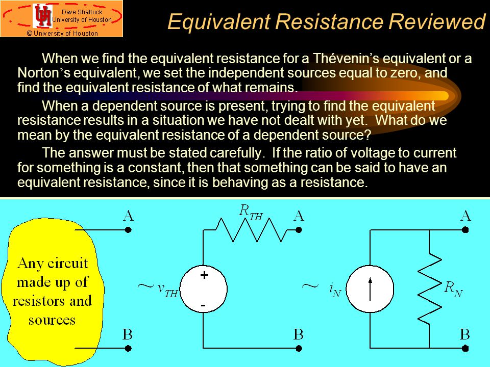Equivalent Resistance Reviewed