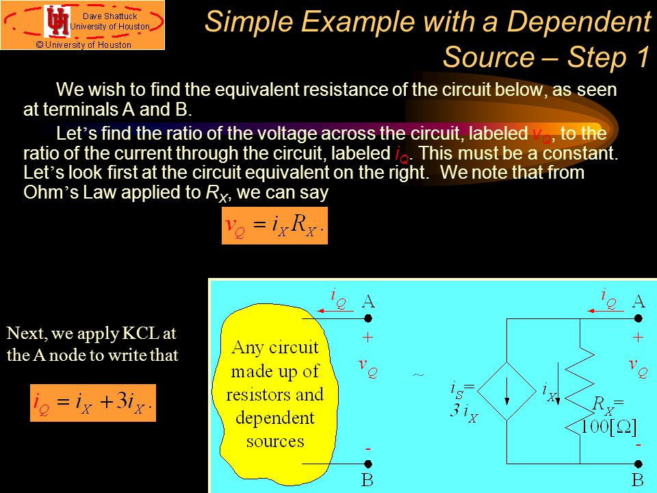 Simple Example with a Dependent Source – Step 1