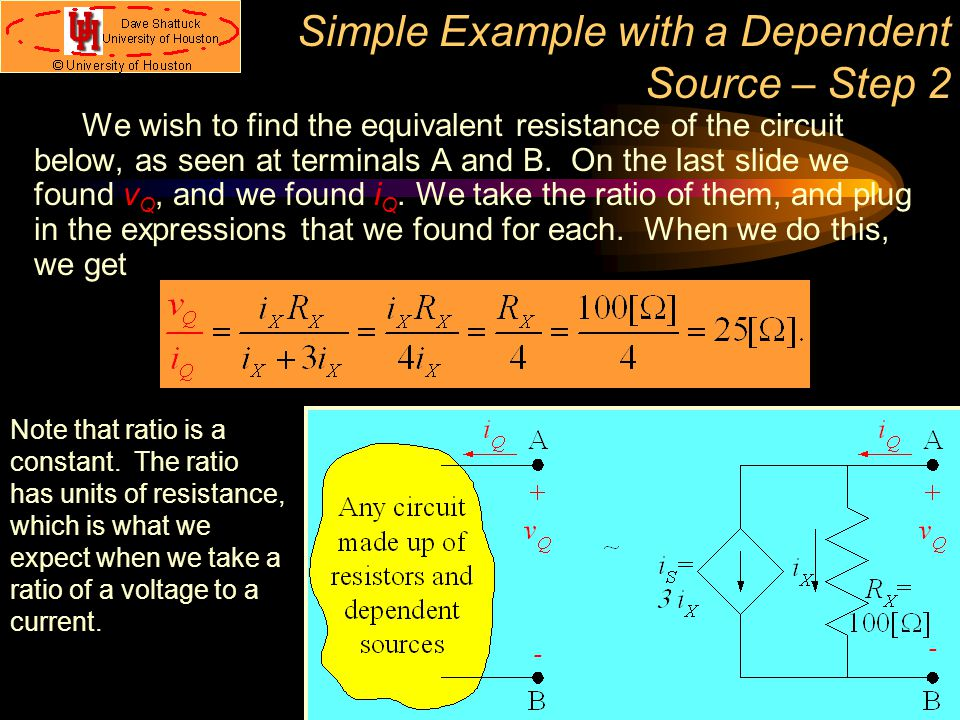 Simple Example with a Dependent Source – Step 2
