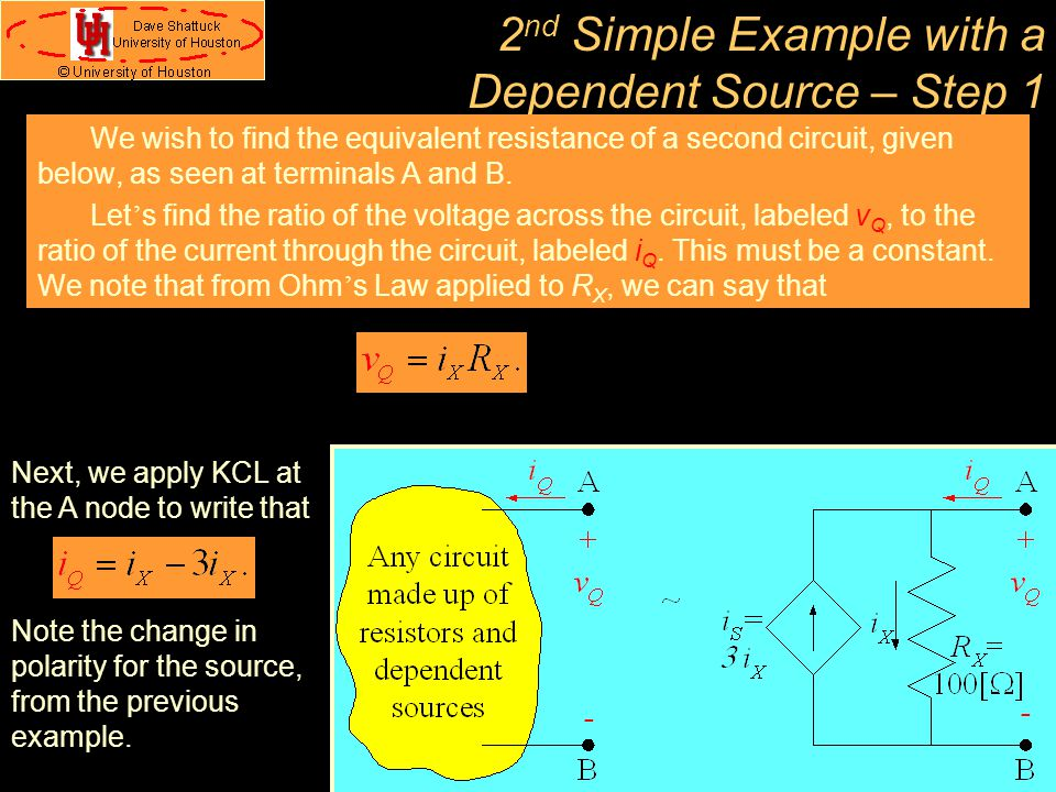 2nd Simple Example with a Dependent Source – Step 1