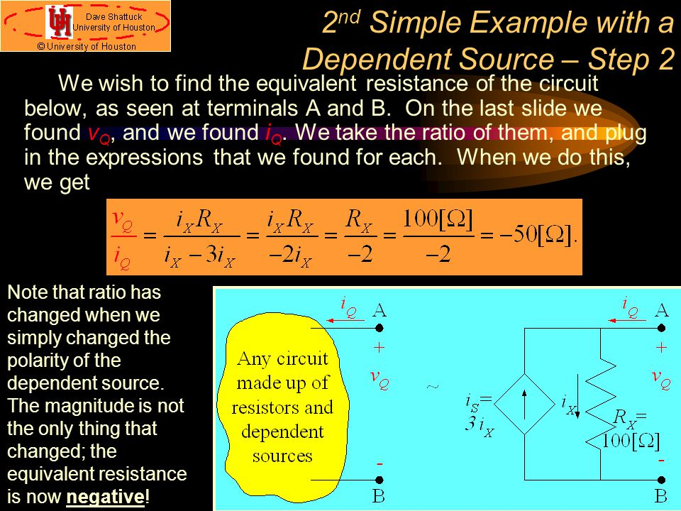 2nd Simple Example with a Dependent Source – Step 2
