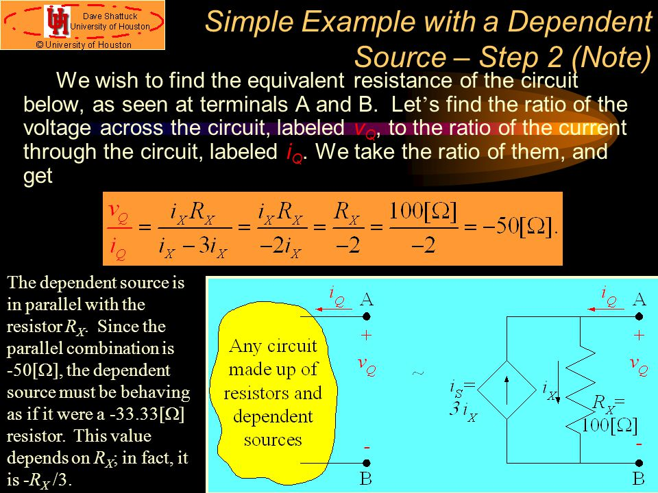 Simple Example with a Dependent Source – Step 2 (Note)