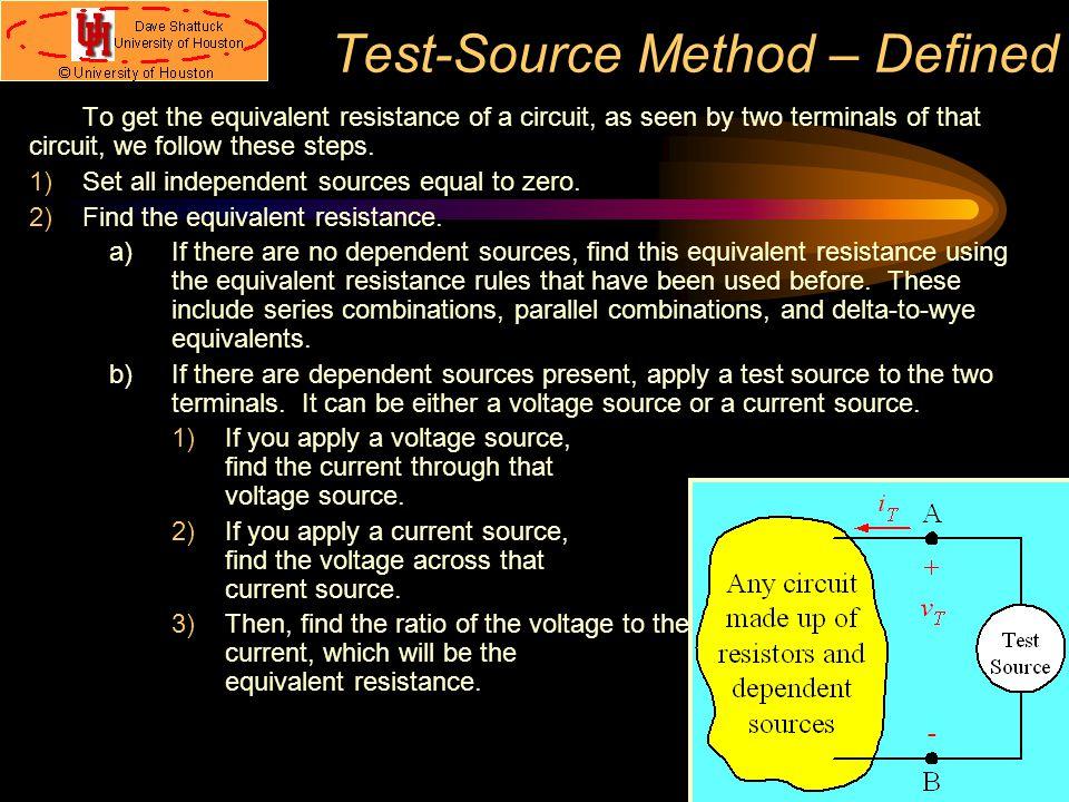 Test-Source Method – Defined