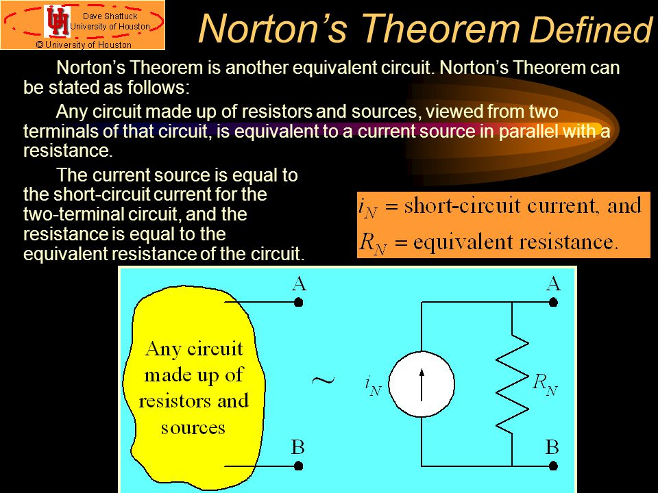 Norton's Theorem Defined