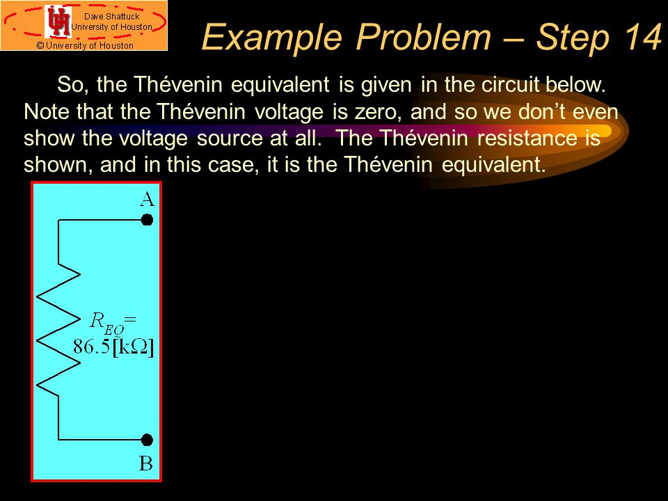 Example Problem – Step 14