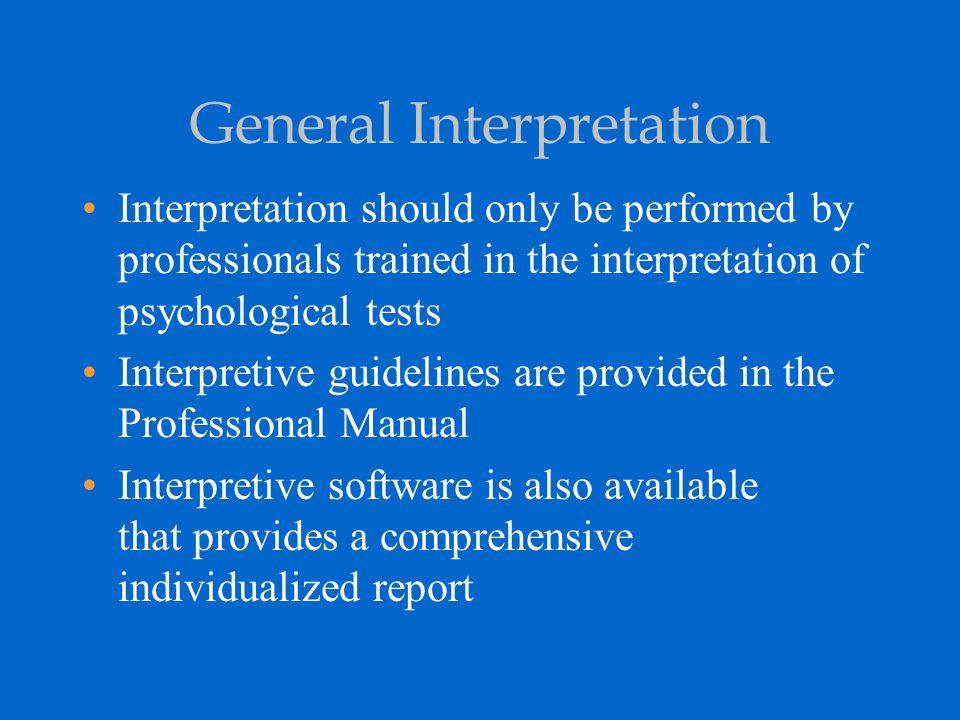 General Interpretation