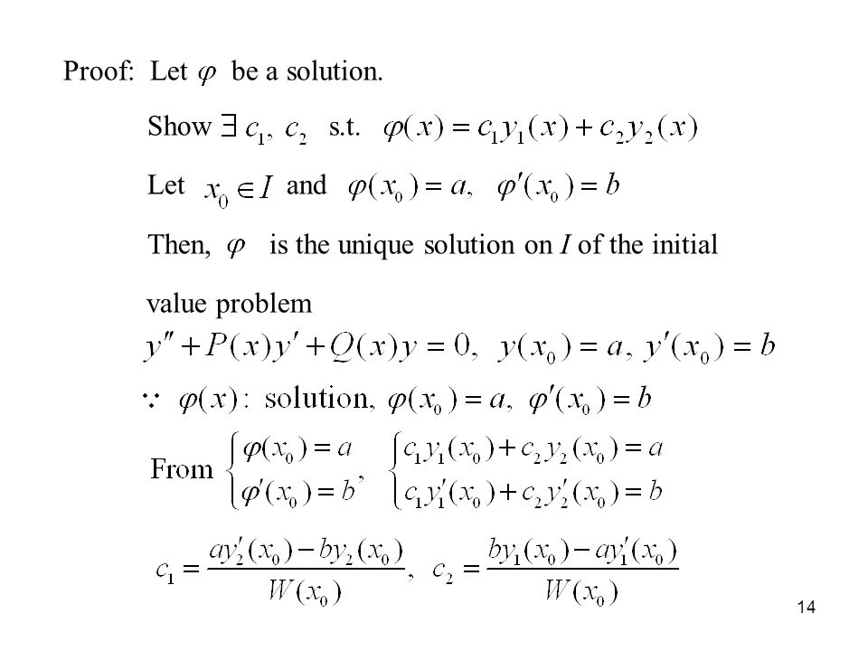 Proof: Let be a solution.