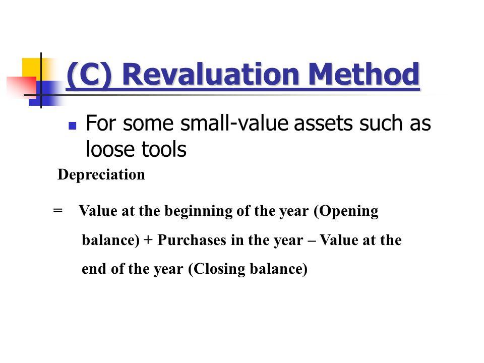 (C) Revaluation Method