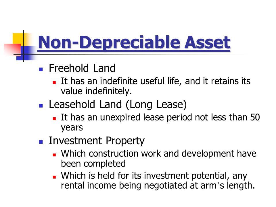 Non-Depreciable Asset