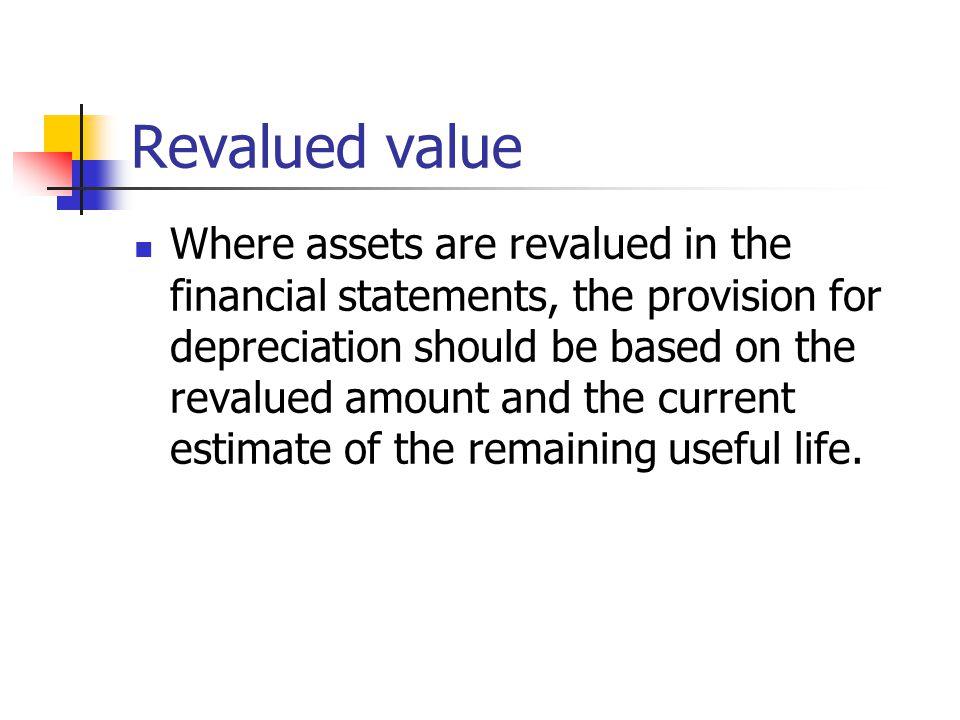 Revalued value