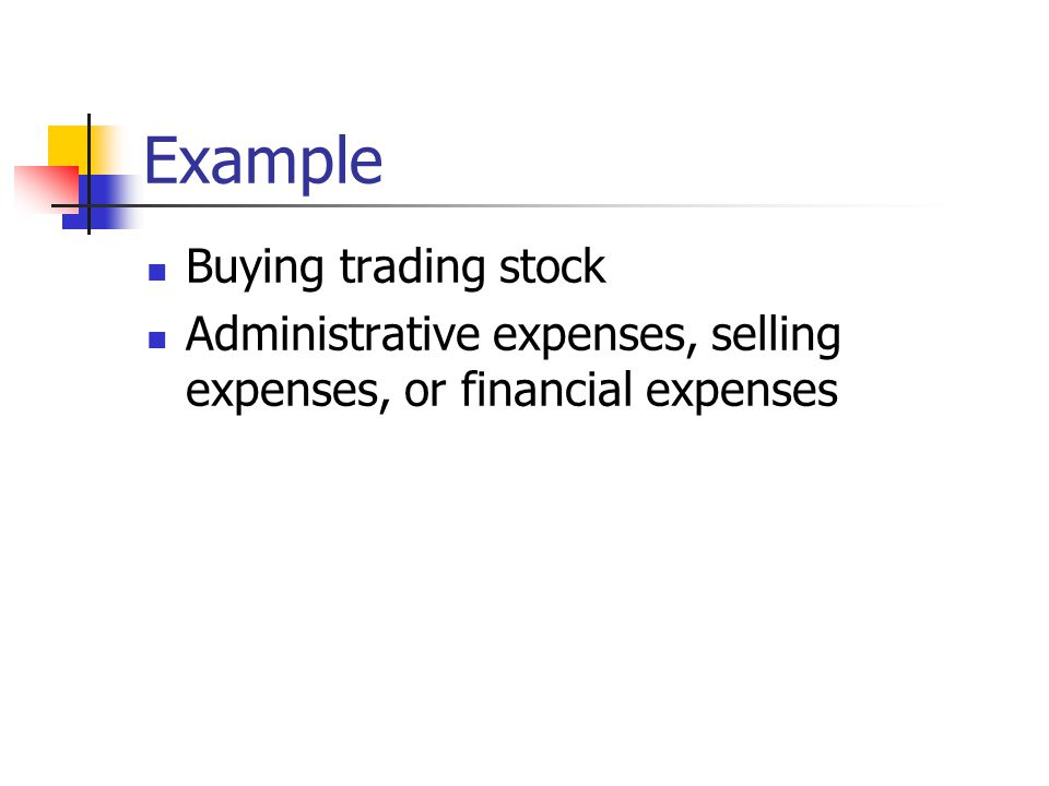 Example Buying trading stock