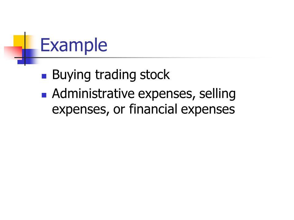 Example Buying trading stock