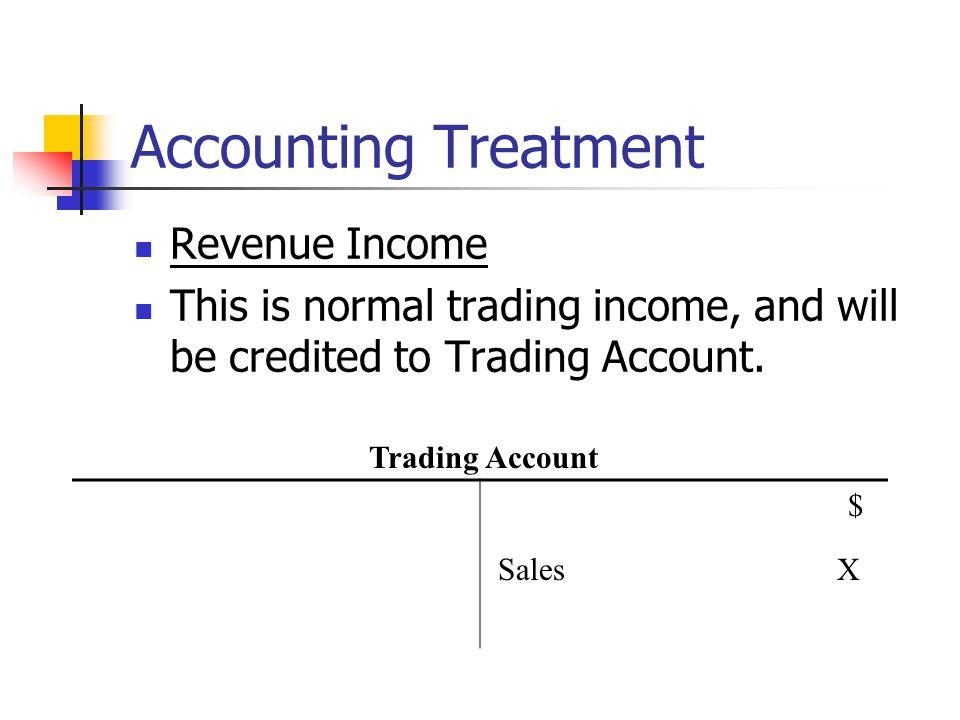 Accounting Treatment Revenue Income