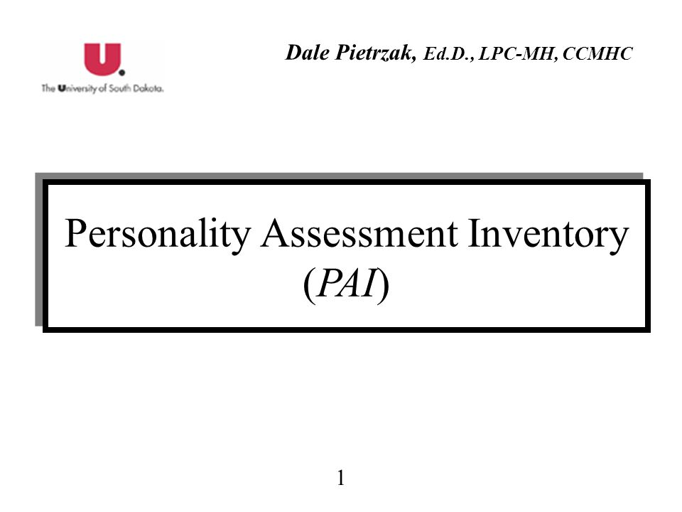 Personality Assessment Inventory (PAI)
