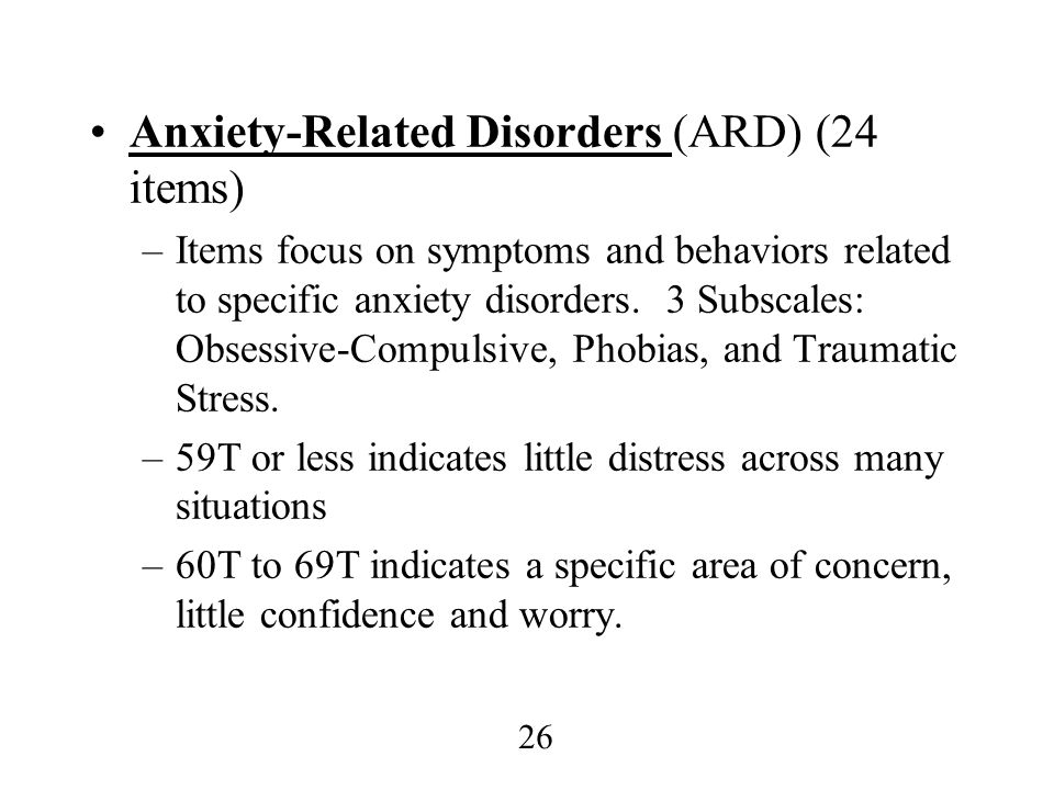 Anxiety-Related Disorders (ARD) (24 items)