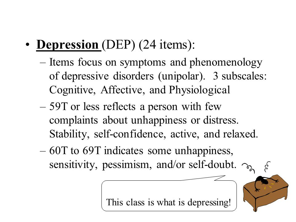 Depression (DEP) (24 items):