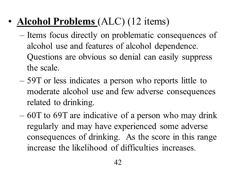 Alcohol Problems (ALC) (12 items)