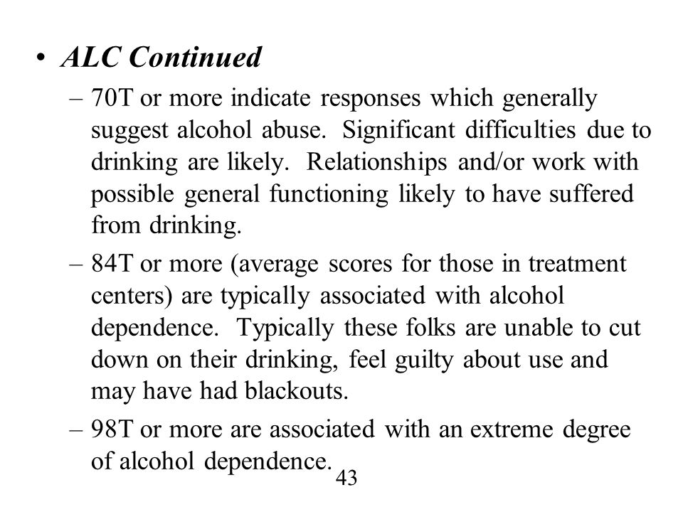 ALC Continued