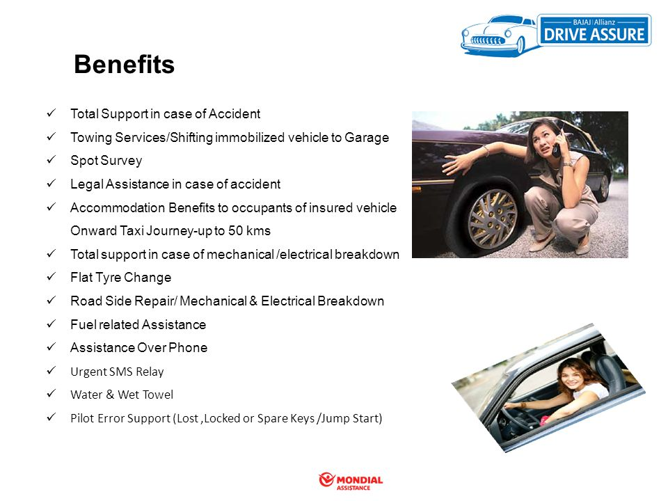 Benefits Total Support in case of Accident