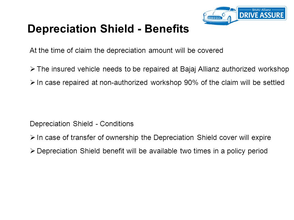 Depreciation Shield - Benefits