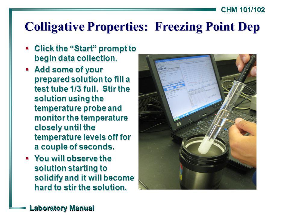 Colligative Properties: Freezing Point Dep