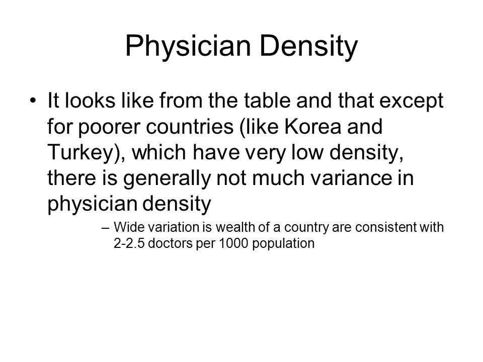 Physician Density