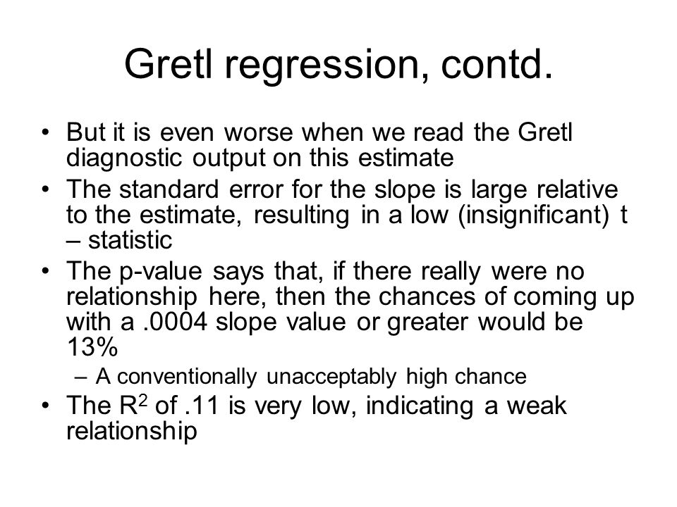 Gretl regression, contd.