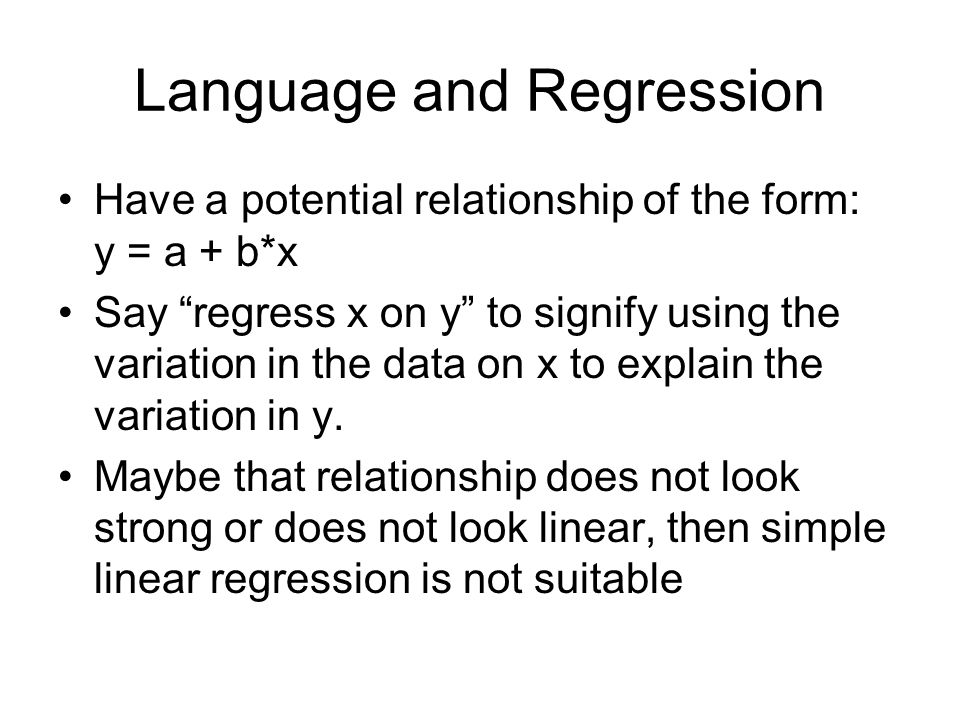 Language and Regression