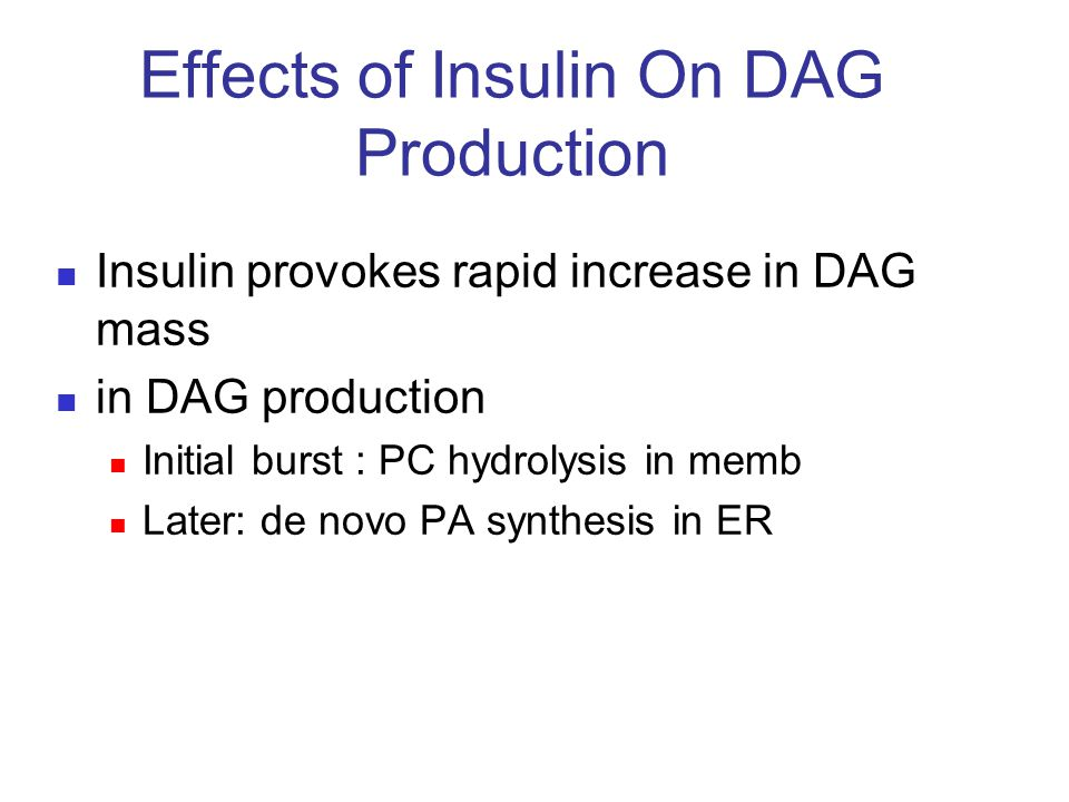 Effects of Insulin On DAG Production