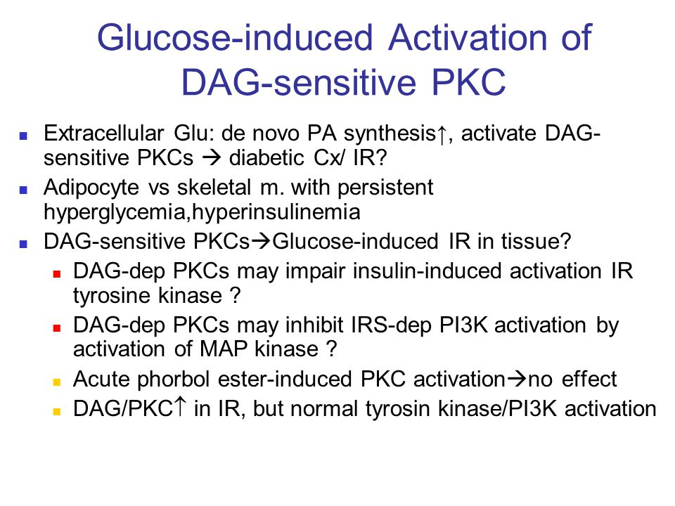 Glucose-induced Activation of DAG-sensitive PKC