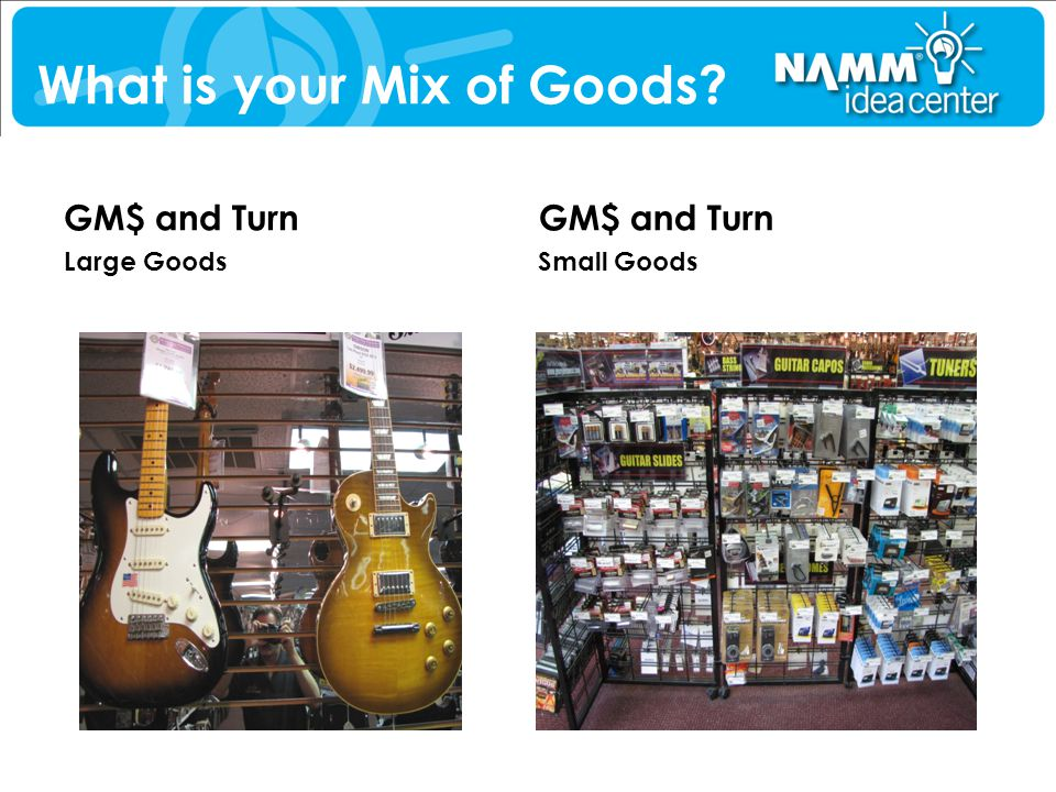 What is your Mix of Goods