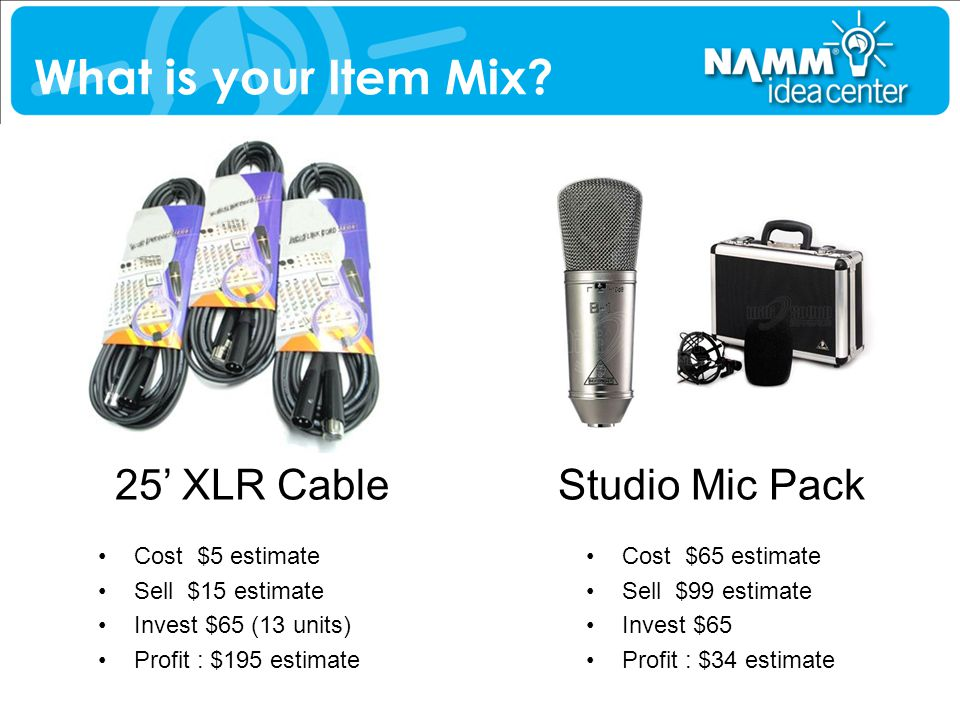 What is your Item Mix 25' XLR Cable Studio Mic Pack Cost $5 estimate