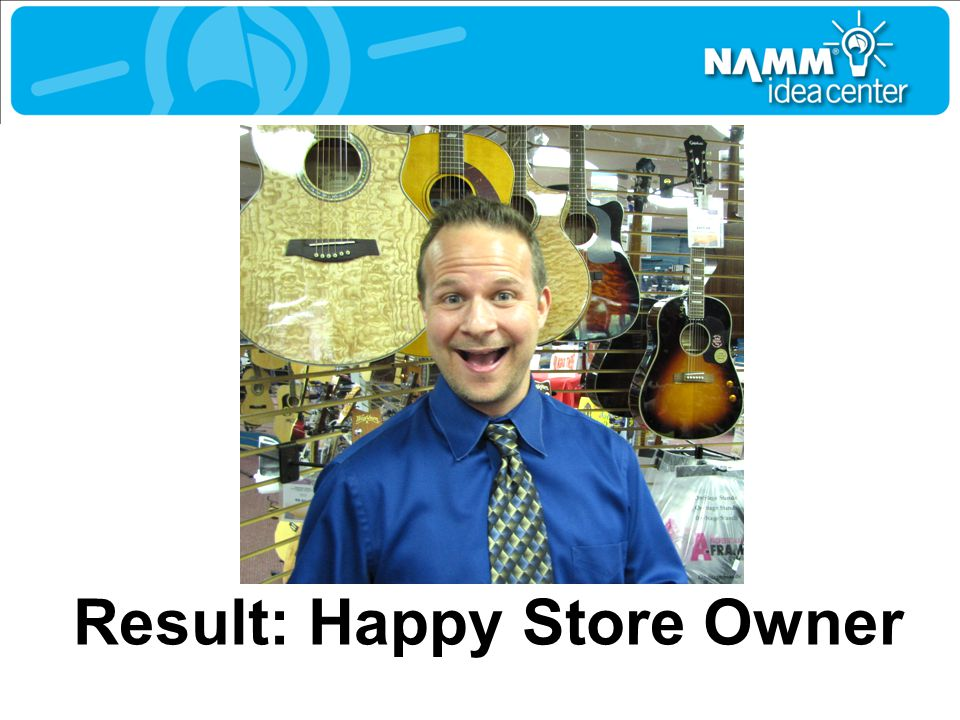 Result: Happy Store Owner