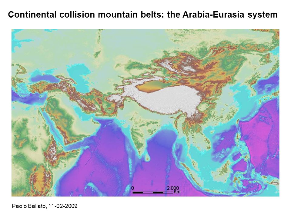 Continental collision mountain belts: the Arabia-Eurasia system