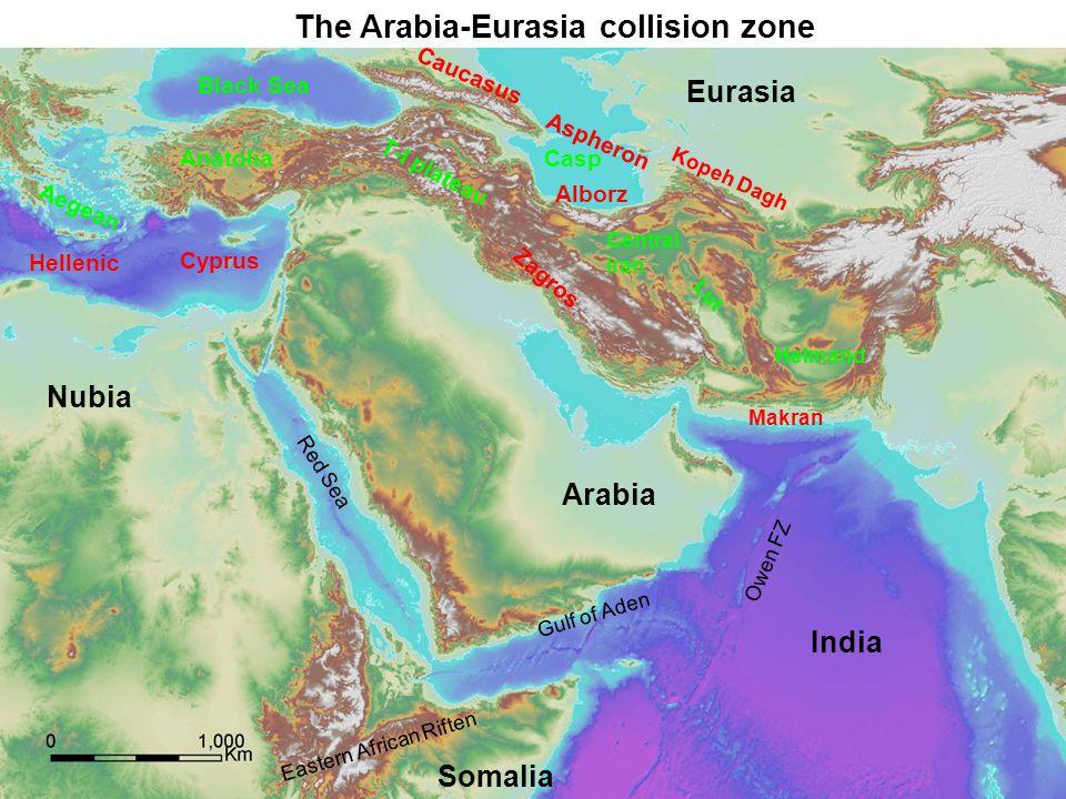The Arabia-Eurasia collision zone