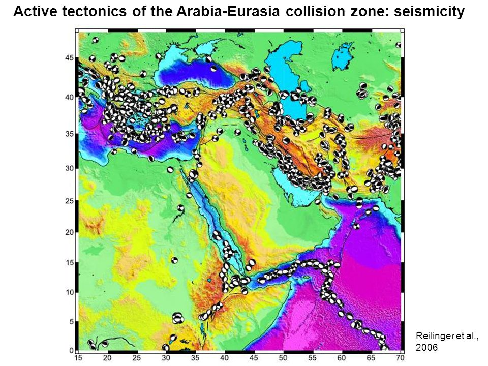 Active tectonics of the Arabia-Eurasia collision zone: seismicity