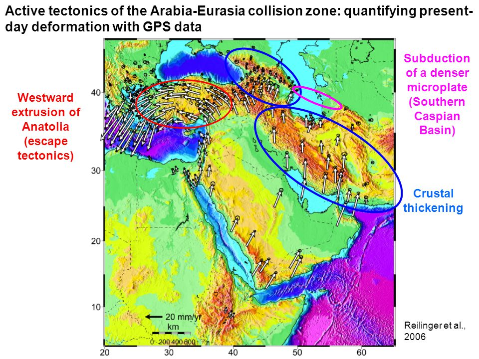 Active tectonics of the Arabia-Eurasia collision zone: quantifying present-day deformation with GPS data