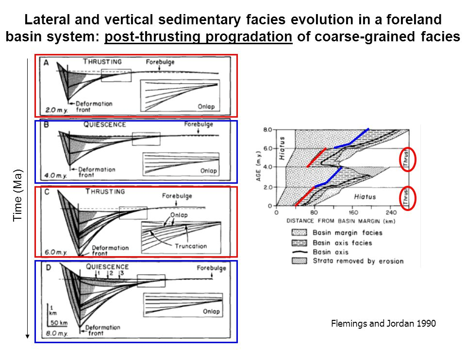 Lateral and vertical sedimentary facies evolution in a foreland basin system: post-thrusting progradation of coarse-grained facies