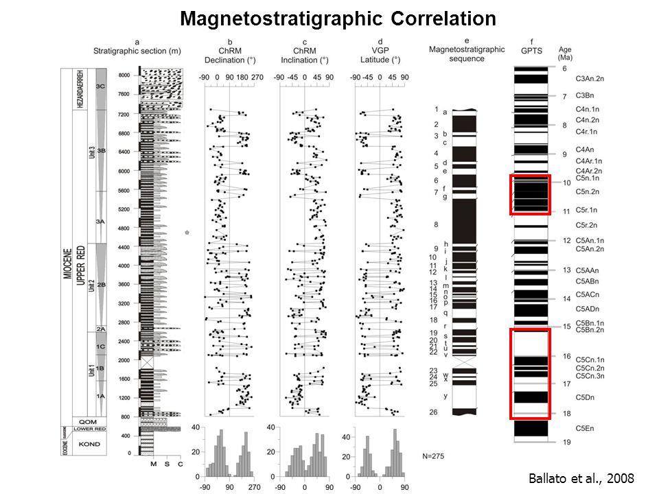 Magnetostratigraphic Correlation